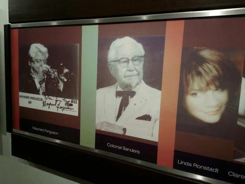 Colonel Sanders from KFC is among the many celebrities who have visited Weber's.