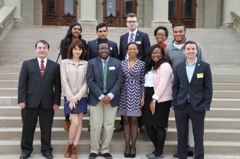 EMU student government group members who attended