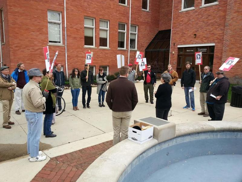 Part-time lecturers and supporters host rally at EMU.