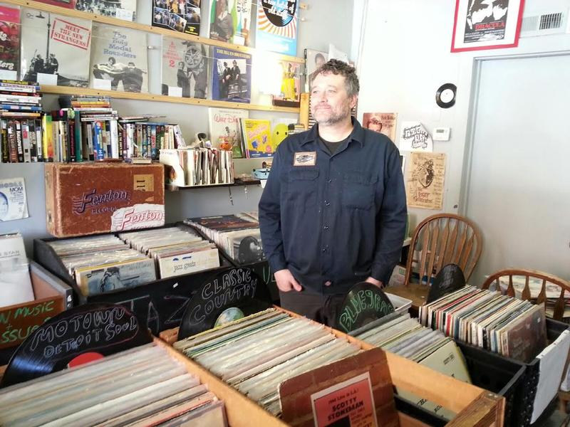 Mark Teachout co-owns Two Jerks Records in Ypsilanti.