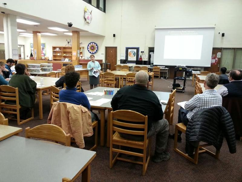 Superintendent Jeanice Swift hosts a Community Information Meeting about the millage at Scarlett Middle School.