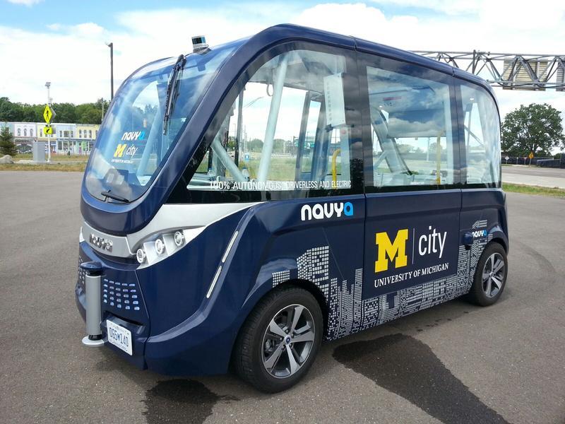 Autonomous NAVYA shuttle.