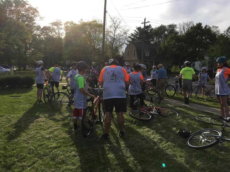 'Ride of Silence'  in Ypsilanti, May 17, 2017