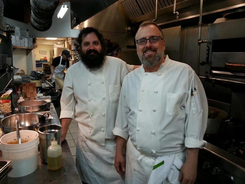 Sous-Chef Bill Bowden on left and Chef Thad Gillies on right.