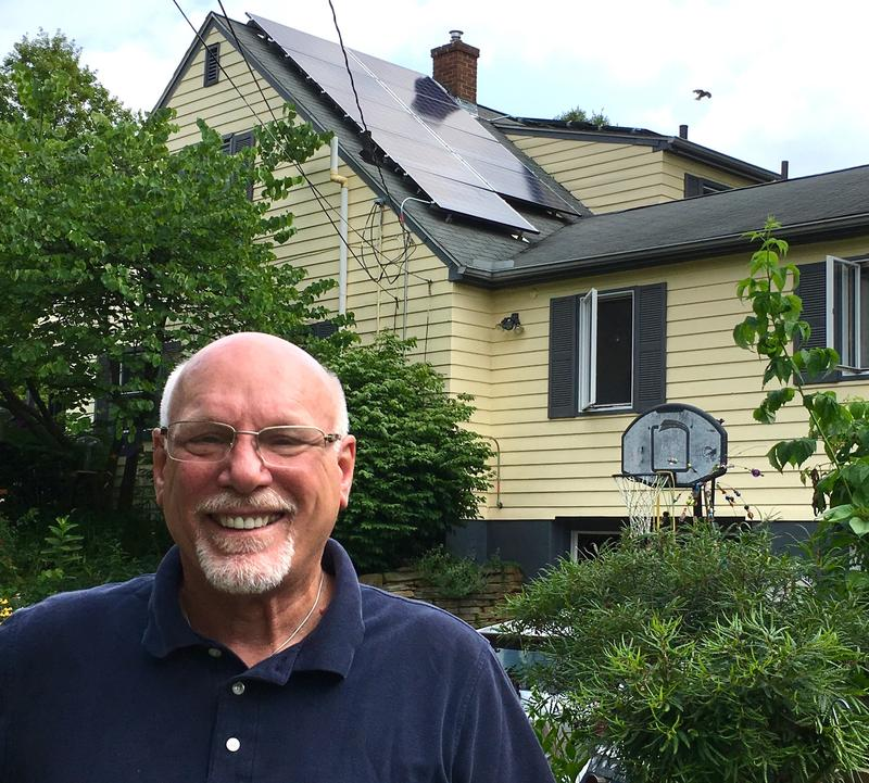 •	Solar panels on the home of Ann Arbor Energy Commission vice-chair Mark Clevey