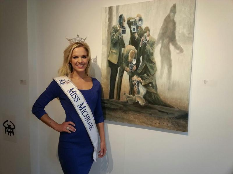 Miss Michigan Heather Kendrick at the Ann Arbor Art Center.