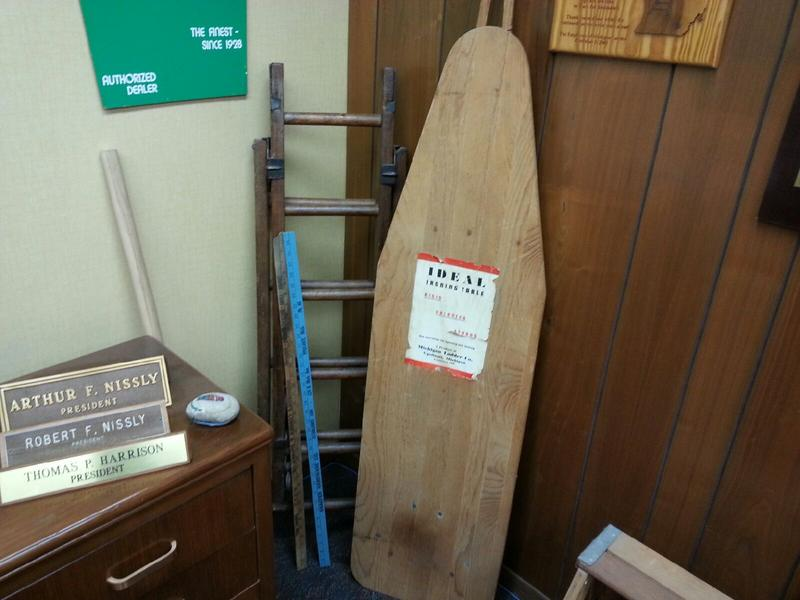 Original ironing board.