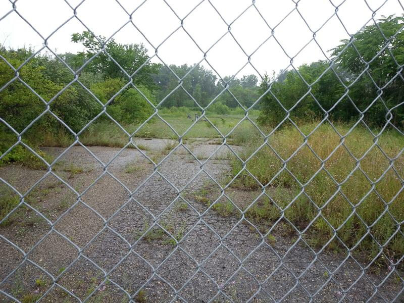Area of property that's fenced-off.