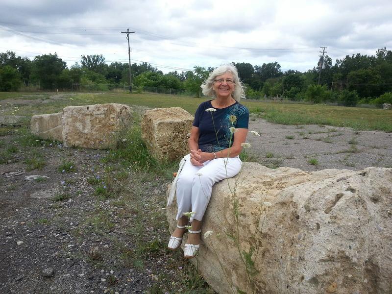 Former Ypsilanti Mayor Cheryl Farmer at the Water Street property.