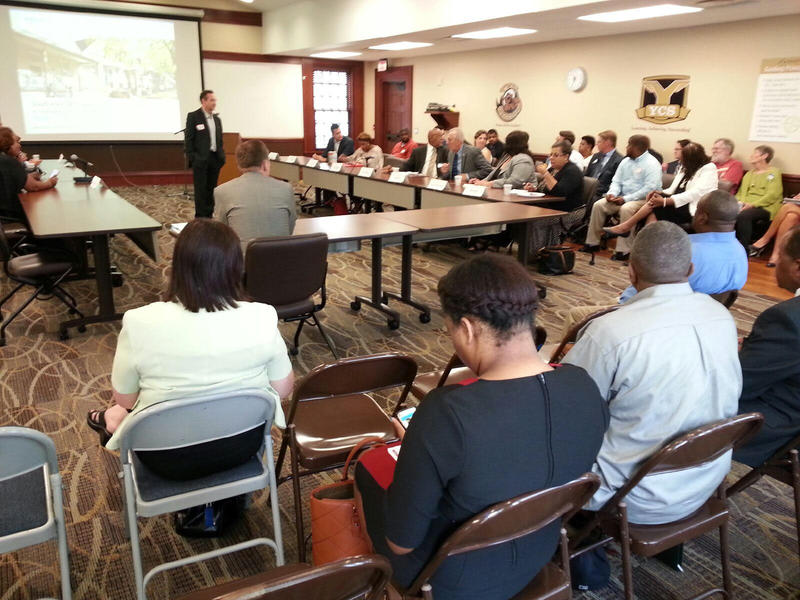 The affordable housing forum was hosted at the Ypsilanti Community Schools Administration building.