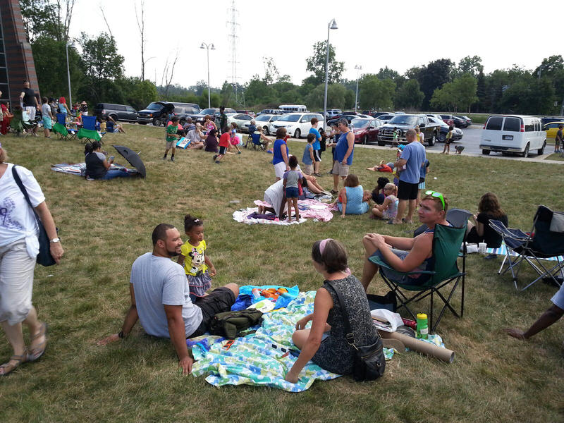 Scenes fromt the Whittaker Road Library Solar Eclipse viewing