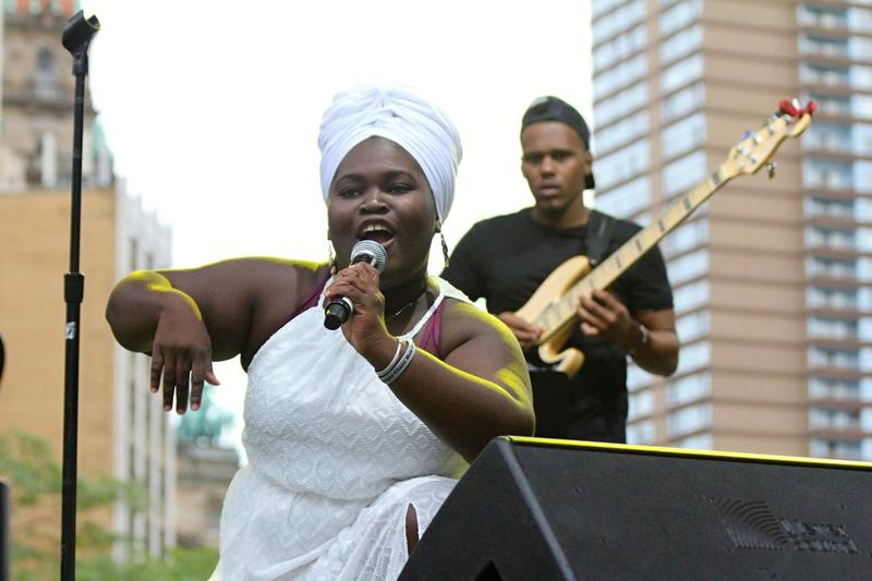 Variety was one of the overriding themes of this year's festival, and Daymé Arocena's Saturday set was a perfect example. Ranging from dance lessons to classic Cuban rumbas to a soul-drenched Don't Unplug My Body, Arocena was all joyful exuberance.