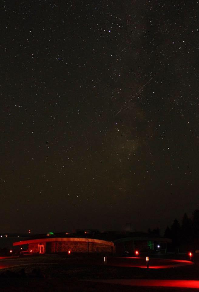 Walkway at Headlands International Dark Sky Park at night