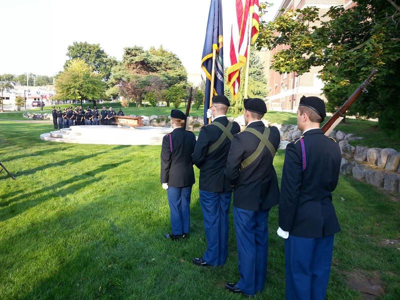 The memorial service was held at Pease Park at EMU.