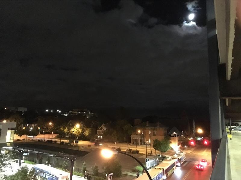 Ann Arbor streetlight, brighter than the full moon