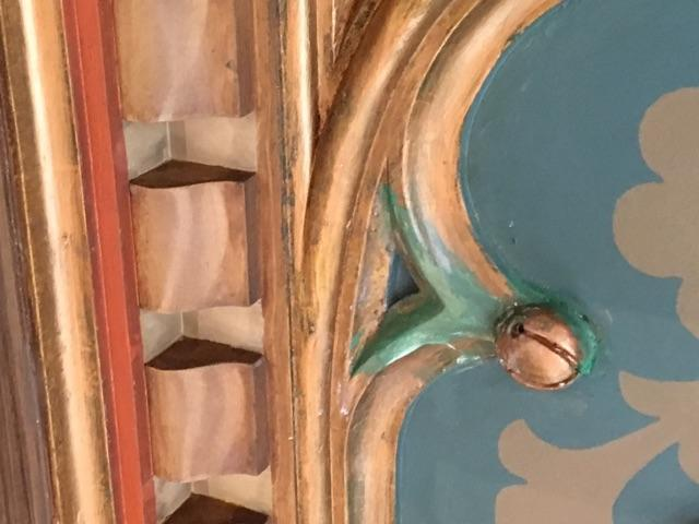 Ceiling at Cook Research Law Library after some restoration was made.