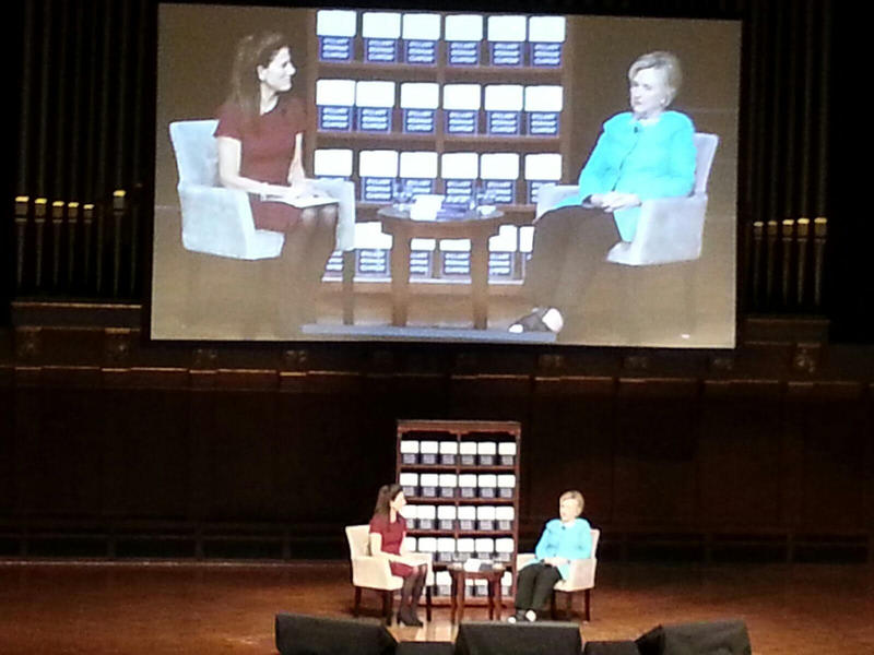 Hillary Clinton at Hill Auditorium in Ann Arbor.