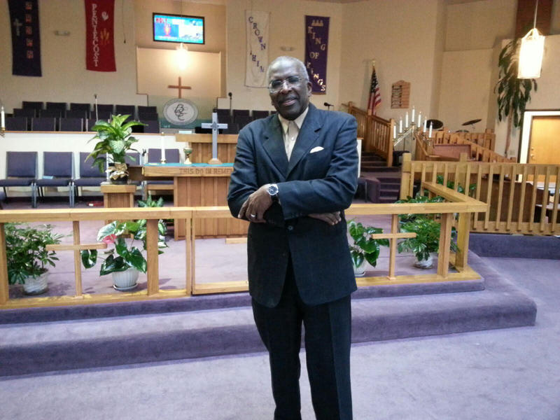 Pastor Jerry Hatter from Brown Chapel AME Church in Ypsilanti.