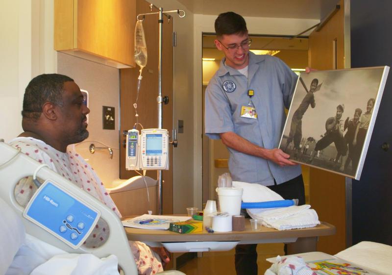 Art Cart, part of  the Gifts of Art program at Michigan Medicine
