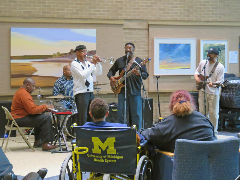 Motown by In Flight, music performance as part of the Gifts of Art program at Michigan Medicine