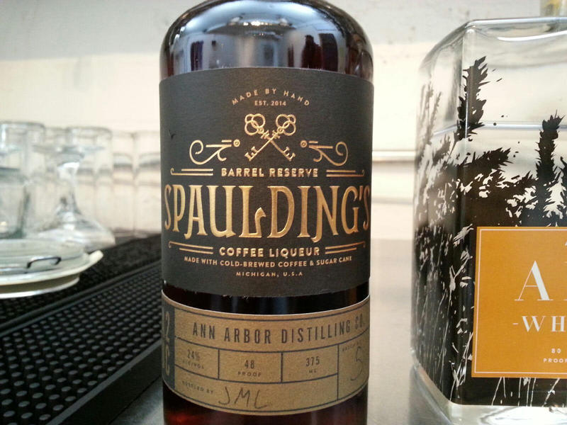 The Spaulding's Coffee Liqueur is the most popular item in the tasting room.