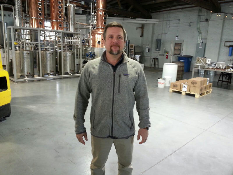Rob Cleveland is one of the owners and managing director for the distiller.