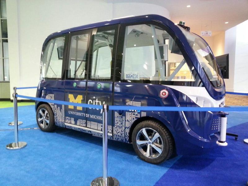 Mcity's NAVYA driverless shuttle.