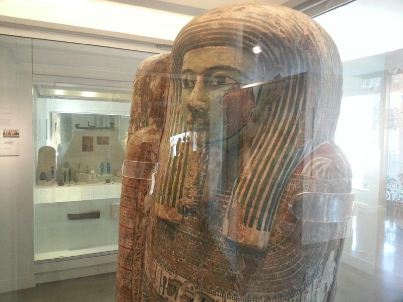 Front of mummy case.
