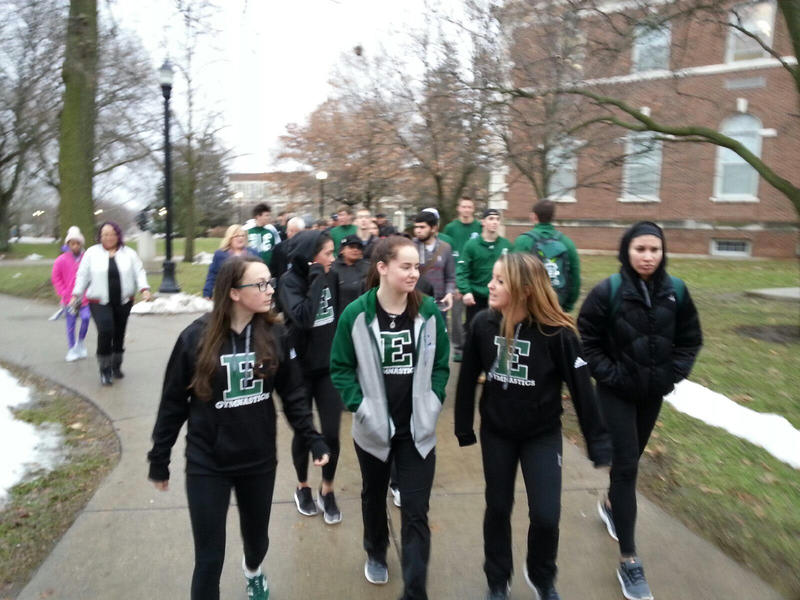 Students, faculty, staff and members of the community took part in the march.