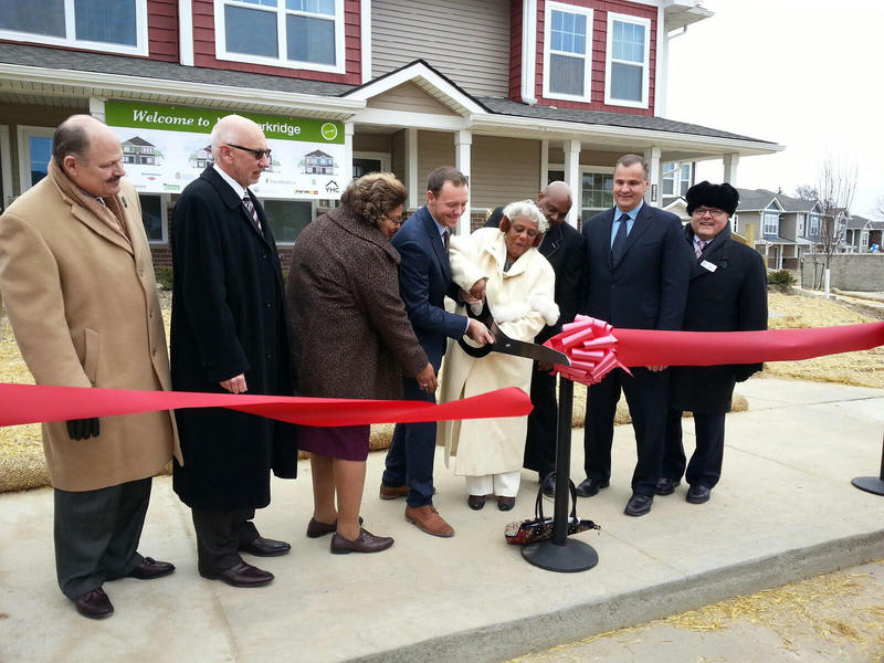 A ribbon cutting was held to unveil the units.