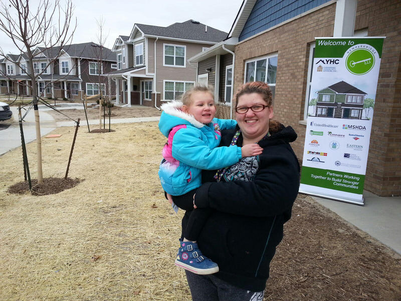 Tiffany LeBlanc and her dauhter Shyanne live at the New Parkridge community.