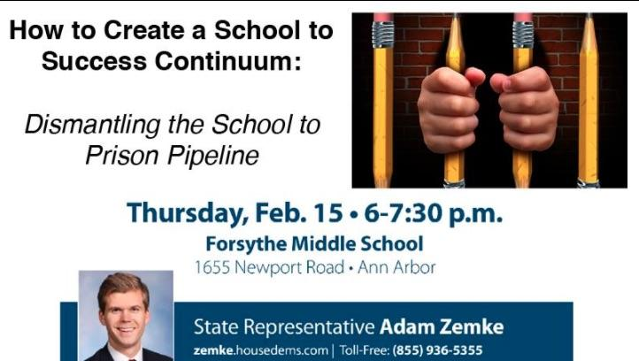Graphic for February 15 Adam Zemke event