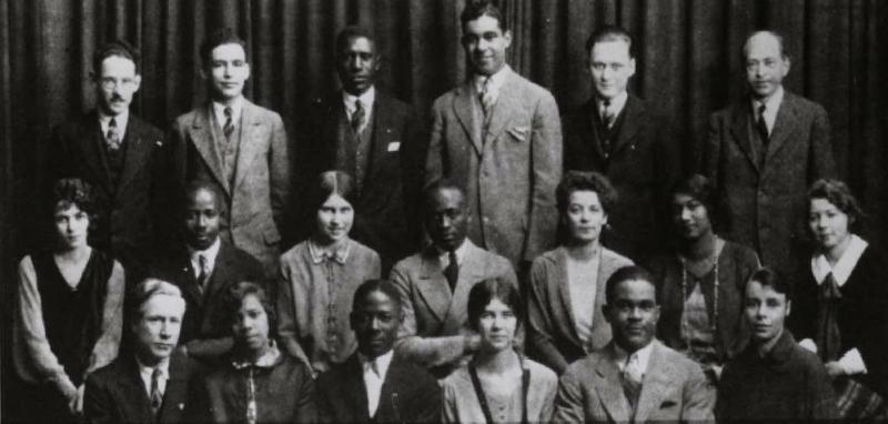 Negro-Caucasian Club in 1927.