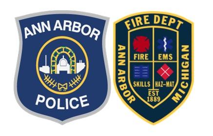 Ann Arbor Police & Fire Badges