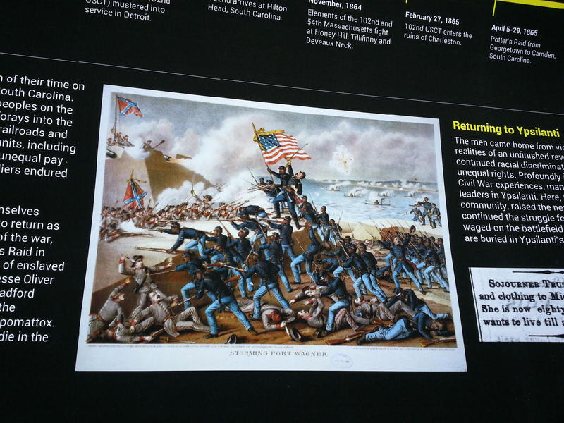Civil War sign.