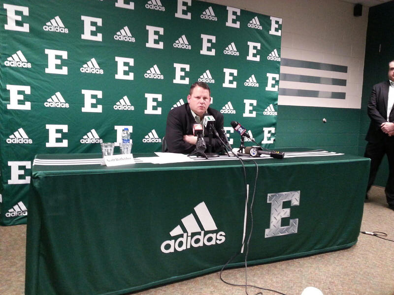 EMU Director of Athletics Scott Wetherbee at the Convocation Center.