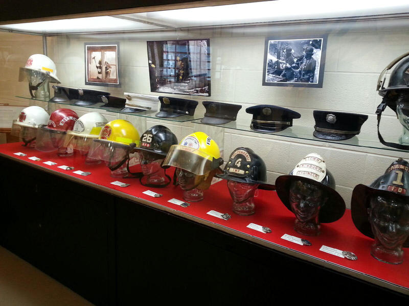 Helmets and hats.