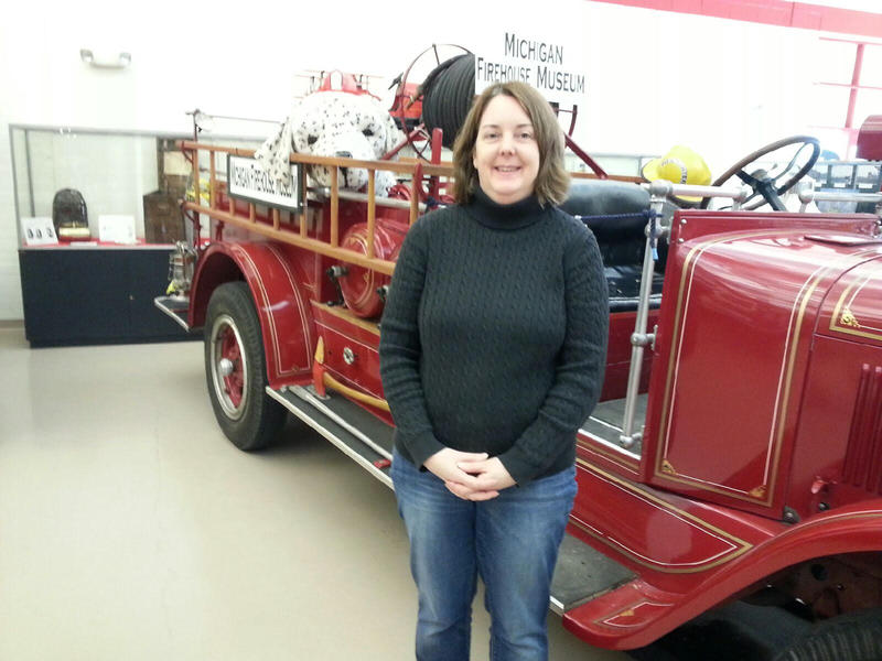 Maura Overland is the curator for the Michigan Firehouse Museum.