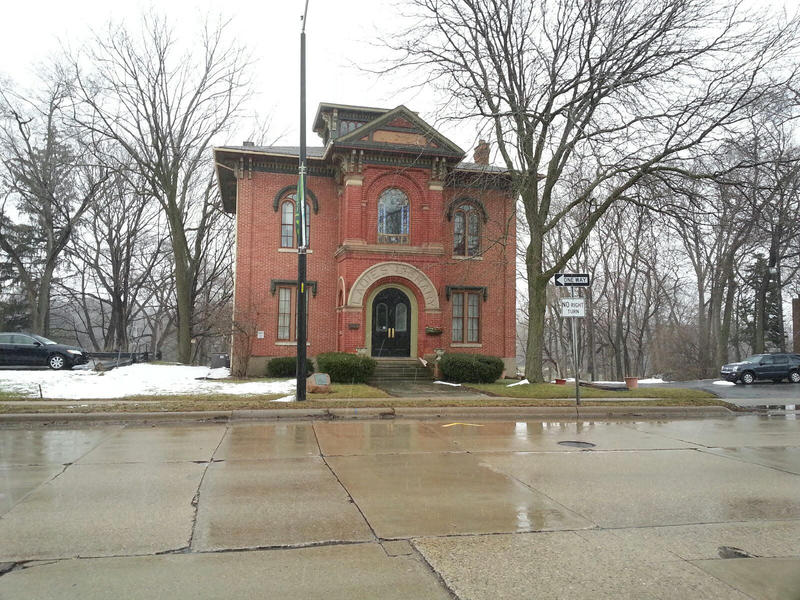 The Ladies Library building is located on North Huron Street in Ypsilanti.