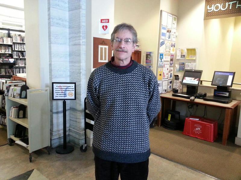 Ypsilanti District Library Circulation Clerk Jerome Drummond.