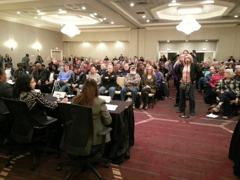 Hundreds of residents attended a town hall meeting in February to address mail delivery issues.  The event took place at the Eagle Crest Marriott in Ypsilanti.