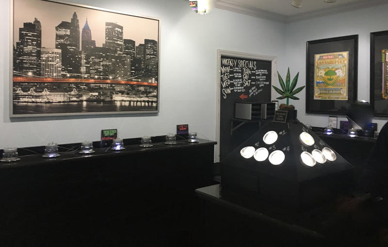 Medical marijuana display room at Third Coast Medical Marijuana dispensary in Ypsilanti