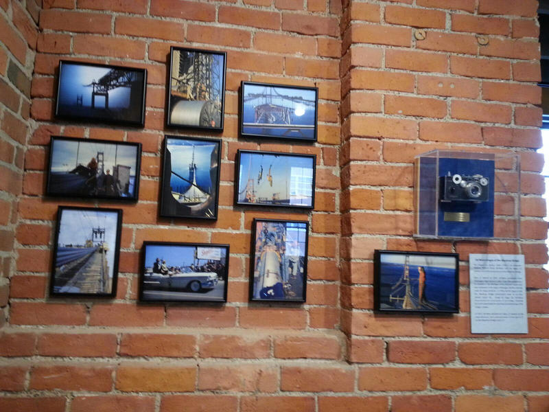 Dick DeMara's photos of the Mackinac Bridge on display at the Argus Museum.