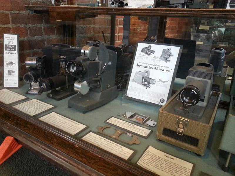 Argus projectors are also on display at the museum.