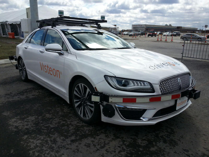 Visteon's autonomous test vehicle at the American Center for Mobility (ACM) in Ypsilanti Township.