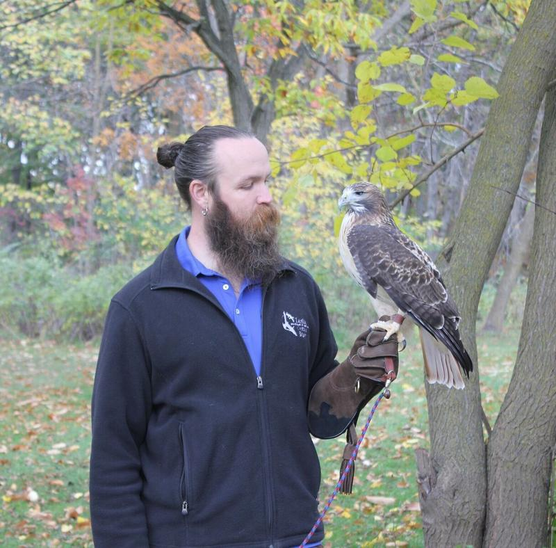 David Clipner with Red Tailed Hawk