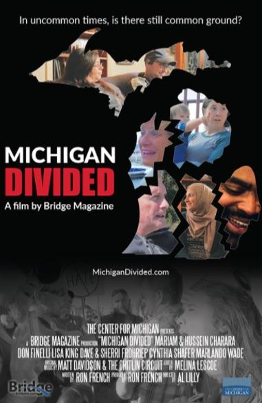 """Michigan Divided"" Poster"