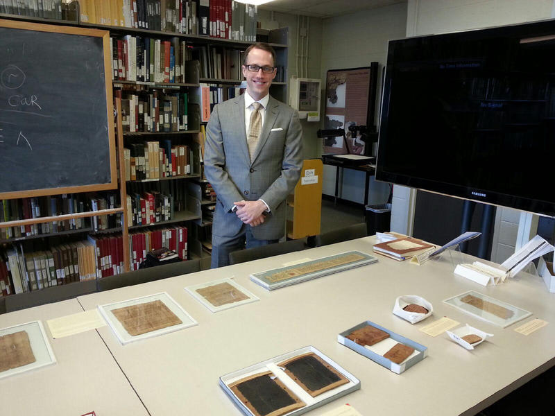 Brendan Haug is the archivist for the Papyrology Collection.