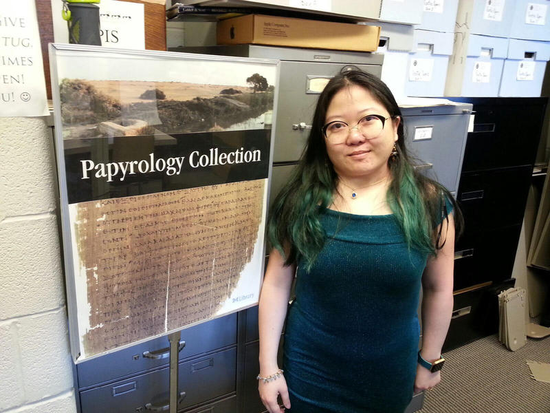 Monica Tsuneishi is the manager for the Papyrology Collection.