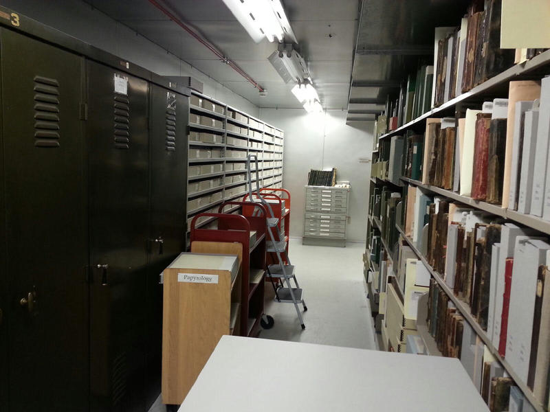 The collection is preserved in a temperature controlled environmental room.